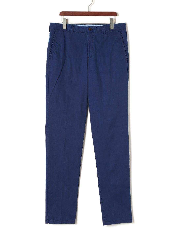 【80%OFF】バックデザイン テーパードパンツ ブルー 46 ファッション > メンズウエア~~パンツ