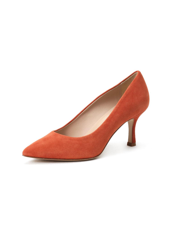 【46%OFF】CORSO ROMA9 スエード パンプス オレンジ 65 ファッション > 靴~~レディースシューズ