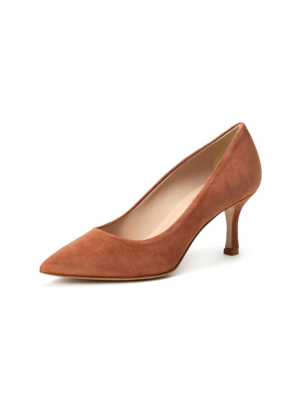 【46%OFF】CORSO ROMA9 スエード パンプス ブラウン 70 ファッション > 靴~~レディースシューズ