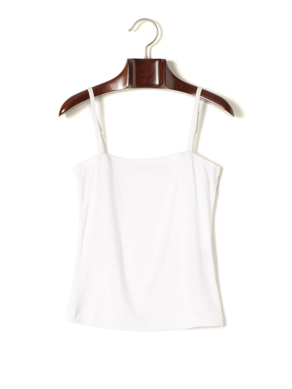 【73%OFF】アウトラストベア天竺 キャミソール ホワイト s ファッション > レディースウエア~~その他トップス