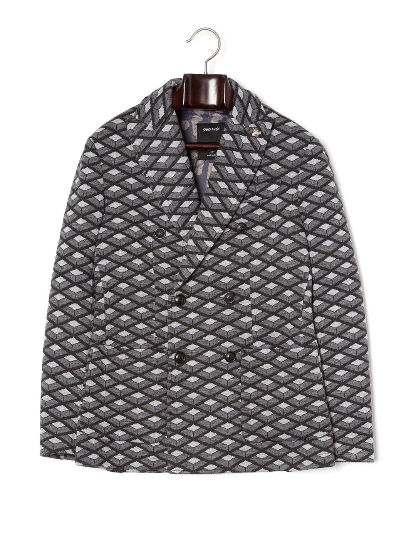 【84%OFF】ピンバッジ付 ピークドラペル ダブルブレステッド ピーコート グレー 44 ファッション > メンズウエア~~ジャケット