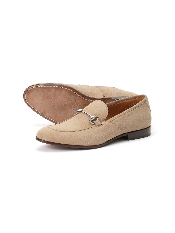 【62%OFF】スエード ビットローファー トープ 42 ファッション > 靴~~メンズシューズ