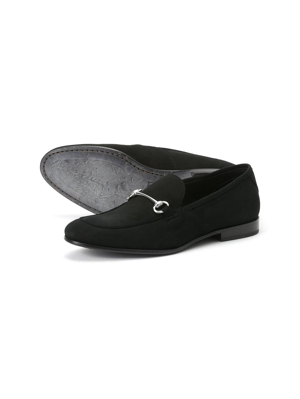 【62%OFF】スエード ビットローファー ブラック 43 ファッション > 靴~~メンズシューズ
