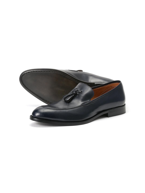 【61%OFF】タッセル ローファー ブルー 43 ファッション > 靴~~メンズシューズ