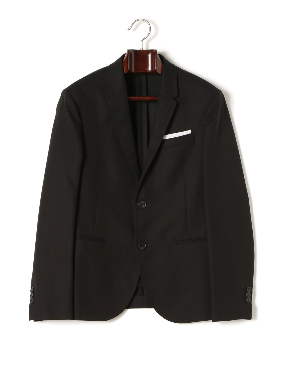 【50%OFF】チーフ付 テーラードジャケット ブラック 50 ファッション > メンズウエア~~スーツ
