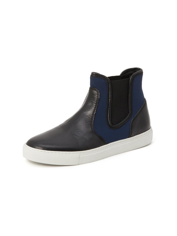 【55%OFF】レザー バイカラー サイドゴアブーツ ネイビー 40 ファッション > 靴~~メンズシューズ