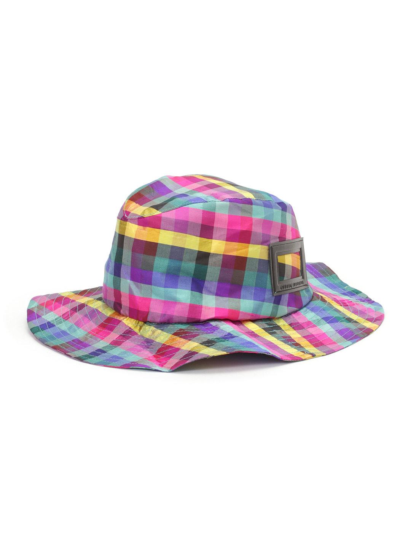 【74%OFF】シルク ギンガムチェック ハット ピンク ファッション > 帽子~~メンズ 帽子
