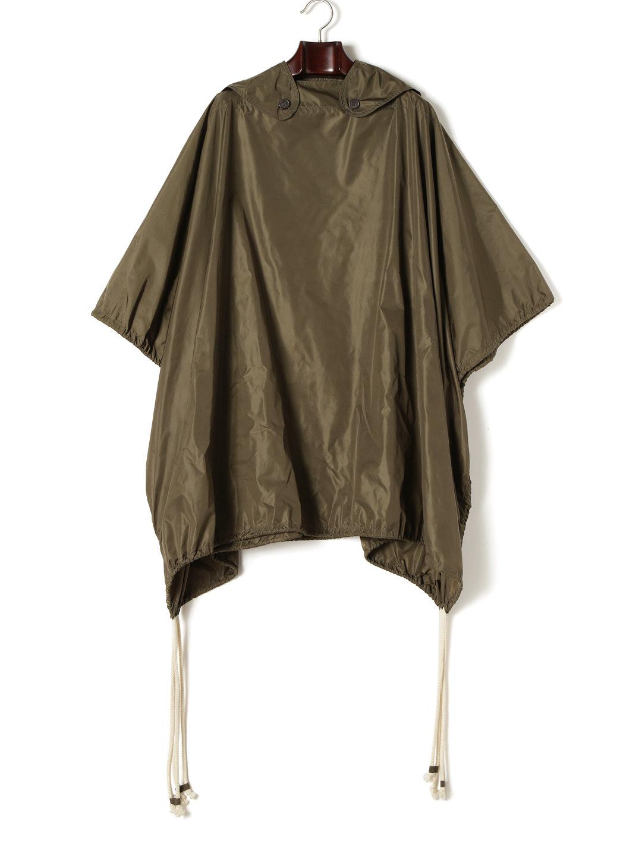 【87%OFF】ポンチョ風 プルオーバーコート カーキ f ファッション > メンズウエア~~ジャケット