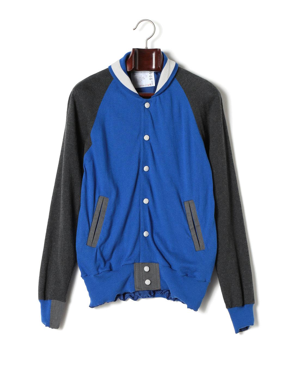 【50%OFF】SACAI カシミヤ混 ブルゾン風 長袖ニットカーディガン ブルー 2 ファッション > メンズウエア~~その他トップス