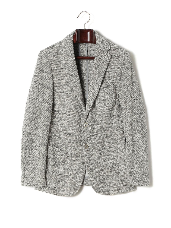 【50%OFF】ミックスカラー ノッチドラペル テーラード ジャケット グレー m ファッション > メンズウエア~~ジャケット