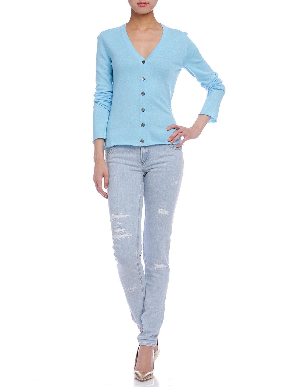 【50%OFF】PLFT ダメージ加工 スカル刺しゅう デニムパンツ ブルー 27 ファッション > レディースウエア~~パンツ
