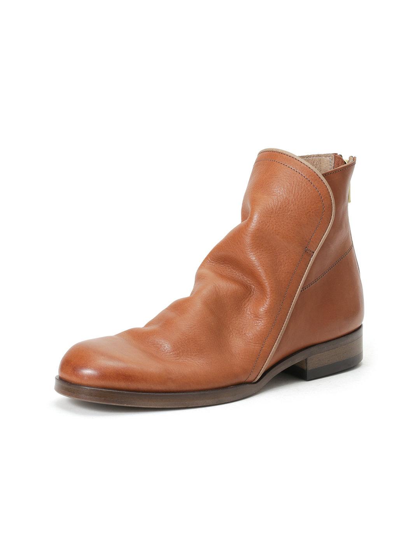 【65%OFF】レザー バックジップ ブーツ ブラウン 40 ファッション > 靴~~メンズシューズ
