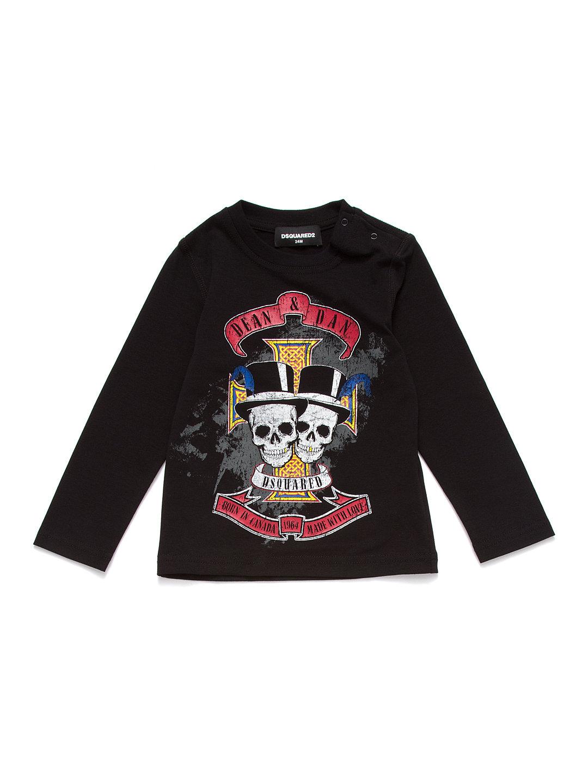 【72%OFF】スカルプリント クルーネック 長袖Tシャツ ブラック 24m ベビー用品 > 衣服~~ベビー服