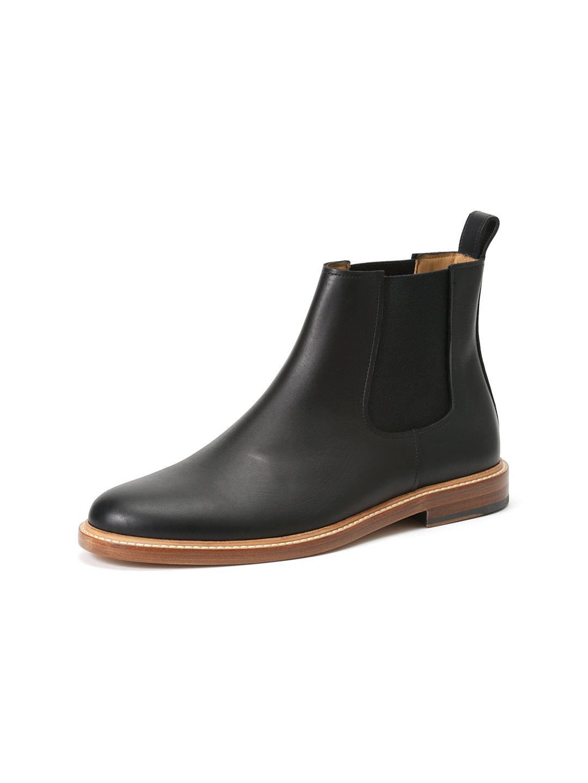 【50%OFF】レザー サイドゴアブーツ ブラック 43 ファッション > 靴~~メンズシューズ