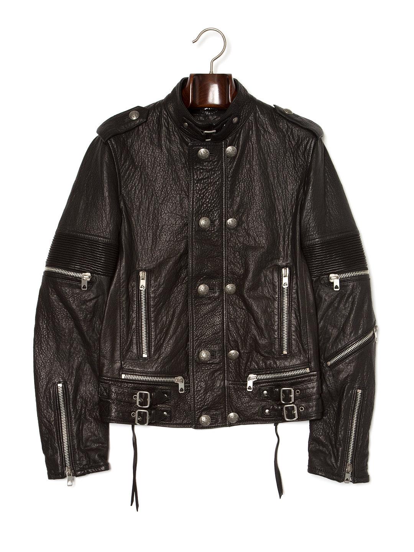 【60%OFF】シープレザー ジャケット ブラック 50 ファッション > メンズウエア~~ジャケット