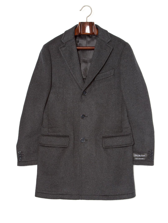 【67%OFF】チェスターフィールドコート チャコールxグレー l ファッション > メンズウエア~~ジャケット