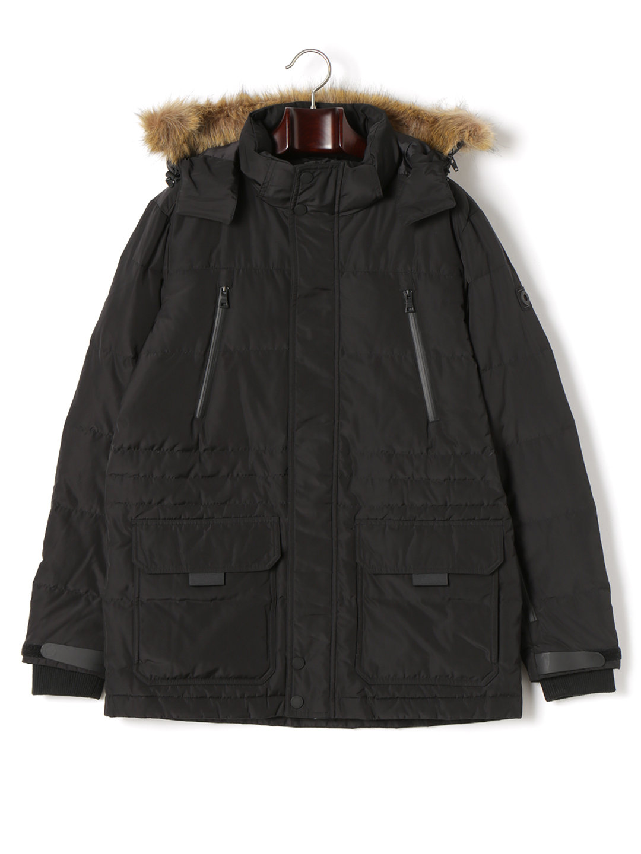 【55%OFF】EXPEDITION TRUE FIT 2WAY フーデッド 比翼 ダウンジャケット ブラック s ファッション > メンズウエア~~ジャケット