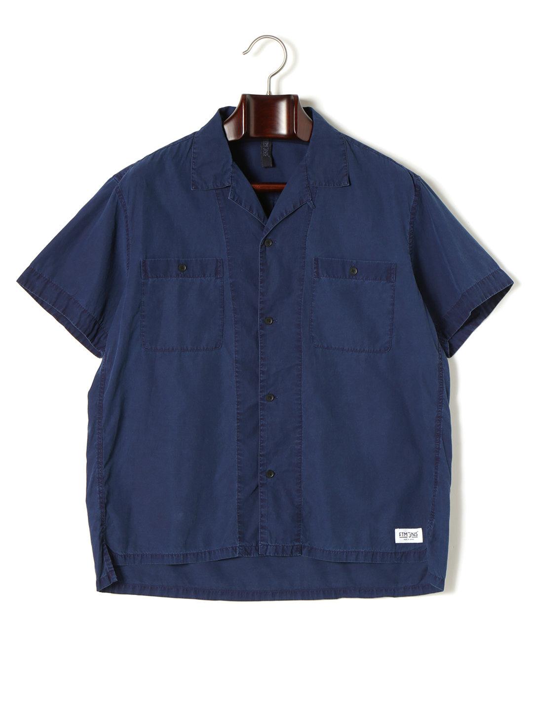 【60%OFF】インディゴ染め オープンカラー 半袖シャツ インディゴ 44 ファッション > メンズウエア~~その他トップス