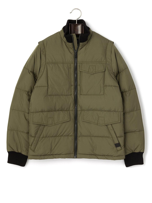 【66%OFF】Reinbach キルティング リブ切替 フルジップ ダウンジャケット オールドグリーン xs ファッション > メンズウエア~~ジャケット