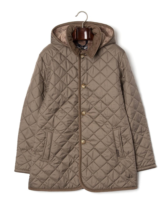 【41%OFF】DENSTON MENS 2S FUR フード付 キルティングコート コークxベージュ 40 ファッション > メンズウエア~~ジャケット