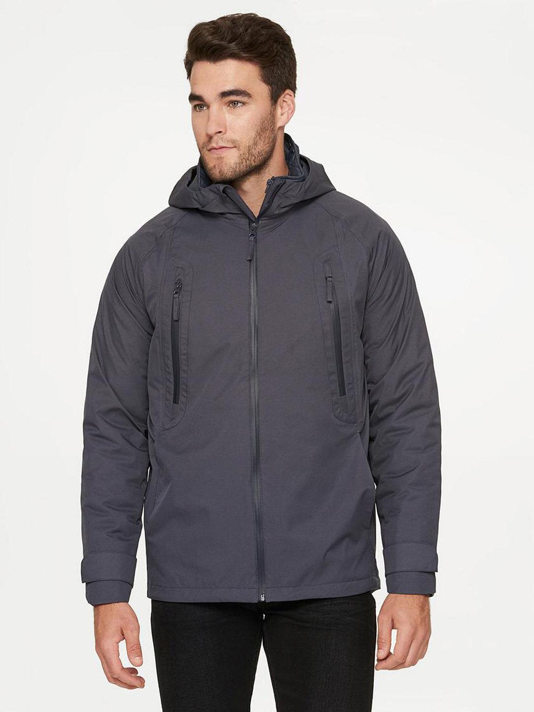【74%OFF】CLIMATE キルティングライナー付 フーデッドジャケット マグネット l ファッション > メンズウエア~~ジャケット