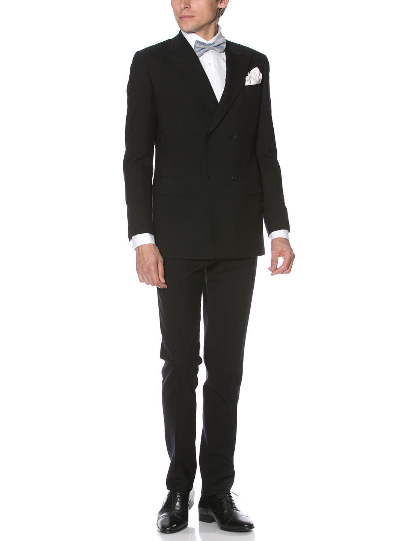【50%OFF】ピークドラペル ダブルブレステッド スーツ ネイビー 50 ファッション > メンズウエア~~スーツ