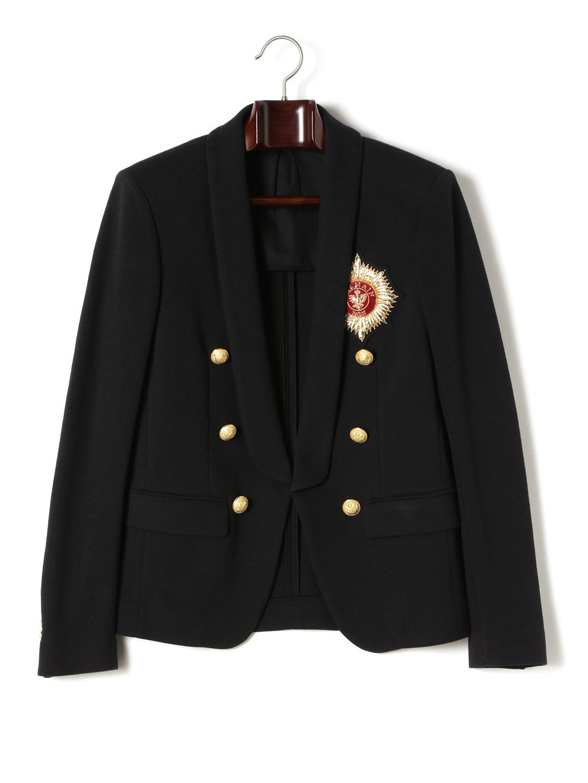 【80%OFF】刺しゅう ショールカラー 6ボタン ジャケット ブラック 48 ファッション > メンズウエア~~ジャケット