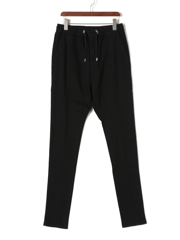 【80%OFF】シルク混 イージーパンツ ブラック s ファッション > メンズウエア~~パンツ