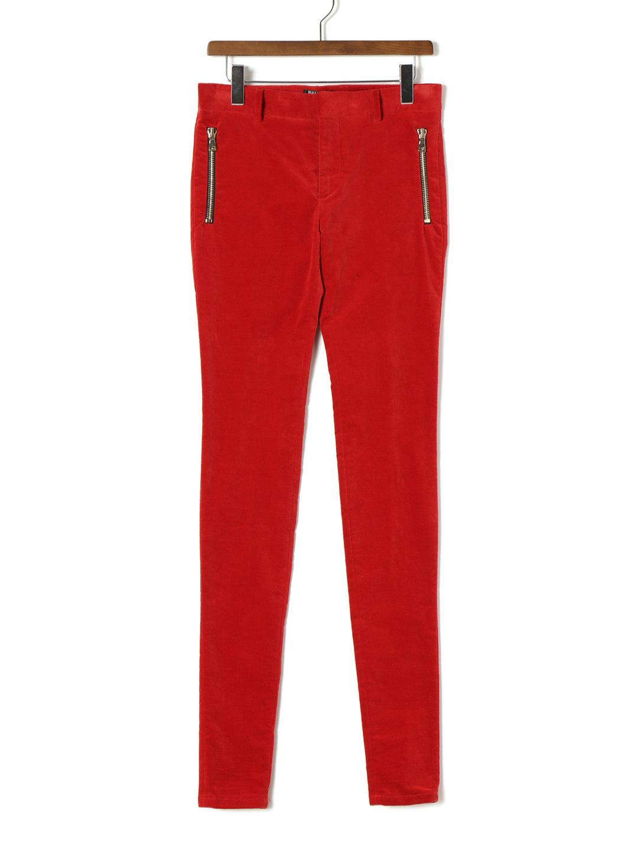【80%OFF】ストレッチ ベルベット ジップポケット スキニーパンツ レッド 52 ファッション > メンズウエア~~パンツ