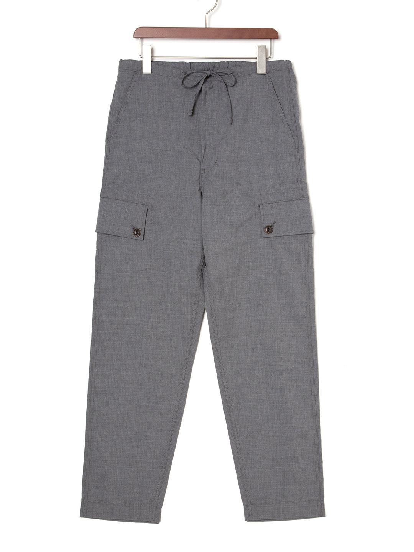 【50%OFF】ドローコードウエスト カーゴパンツ グレー 3 ファッション > メンズウエア~~パンツ