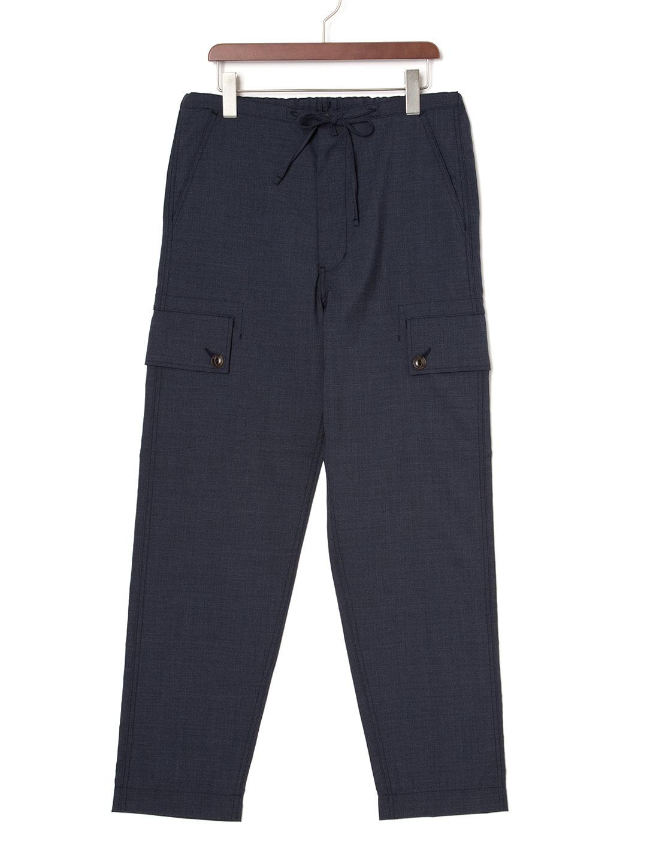 【50%OFF】ドローコードウエスト カーゴパンツ ネイビー 3 ファッション > メンズウエア~~パンツ