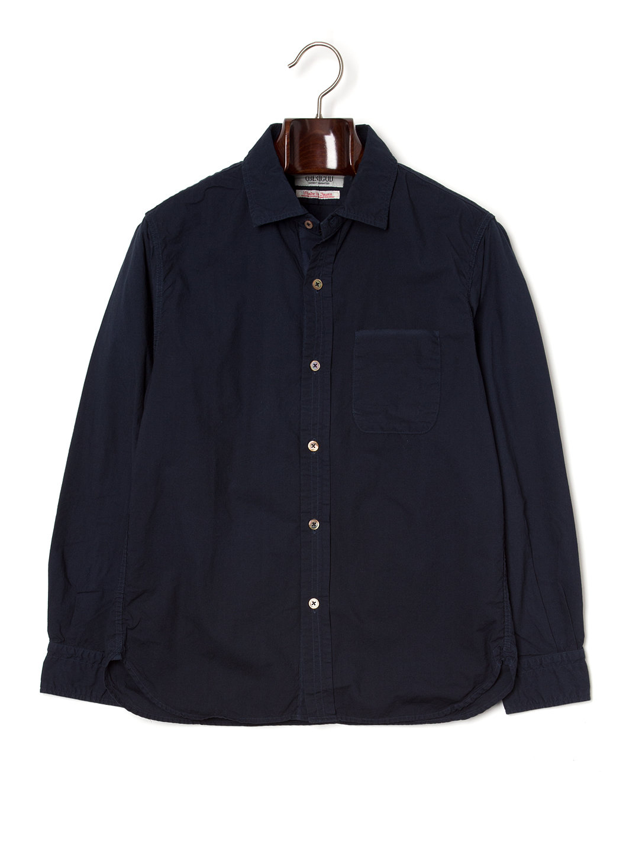 【50%OFF】ワンポケット 長袖シャツ ネイビー 3 ファッション > メンズウエア~~その他トップス