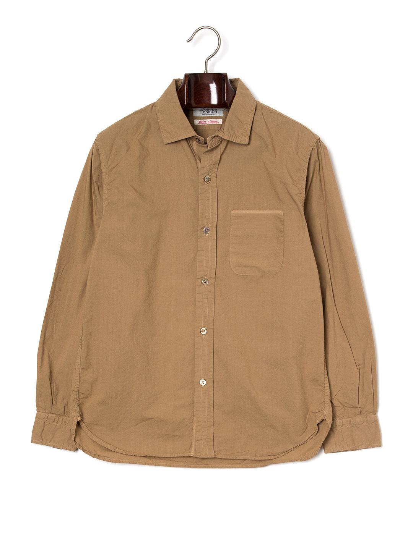 【50%OFF】ワンポケット 長袖シャツ ベージュ 3 ファッション > メンズウエア~~その他トップス