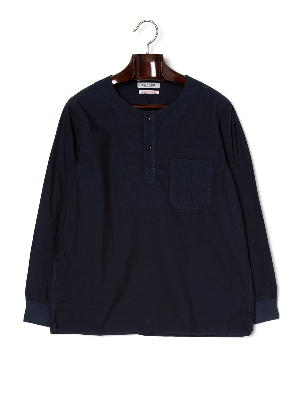 【50%OFF】ヘンリーネック ポケット 長袖トップ ネイビー 3 ファッション > メンズウエア~~その他トップス
