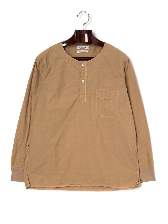 【50%OFF】ヘンリーネック ポケット 長袖トップ ベージュ 3 ファッション > メンズウエア~~その他トップス