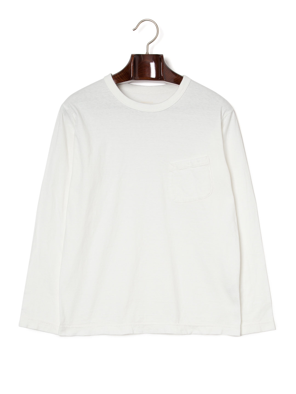 【50%OFF】クルーネック ポケット 長袖トップ ホワイト 2 ファッション > メンズウエア~~その他トップス