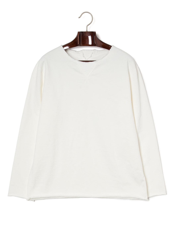 【50%OFF】カットオフ 長袖トップ ホワイト 3 ファッション > メンズウエア~~その他トップス