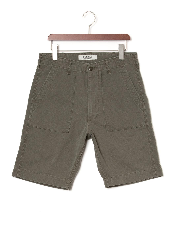 【50%OFF】ベイカー ハーフパンツ オリーブ 4 ファッション > メンズウエア~~パンツ