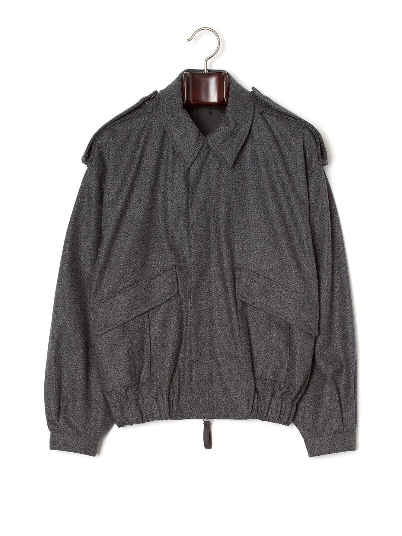 【70%OFF】E.TAUTZ エポレット 比翼 ジャケット チャコール m ファッション > メンズウエア~~ジャケット