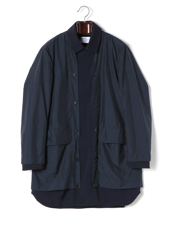 【70%OFF】OAMC レイヤードデザイン 2WAY ステンカラー コート ネイビー m ファッション > メンズウエア~~ジャケット