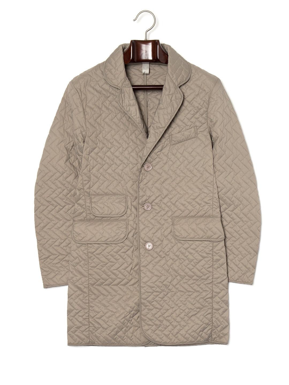 【70%OFF】ジグザグステッチ キルティングコート クレイ/クレイ 36 ファッション > メンズウエア~~ジャケット