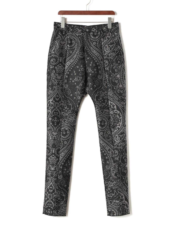 【70%OFF】ペイズリー ジャカード センターシーム パンツ グレー 44 ファッション > メンズウエア~~パンツ