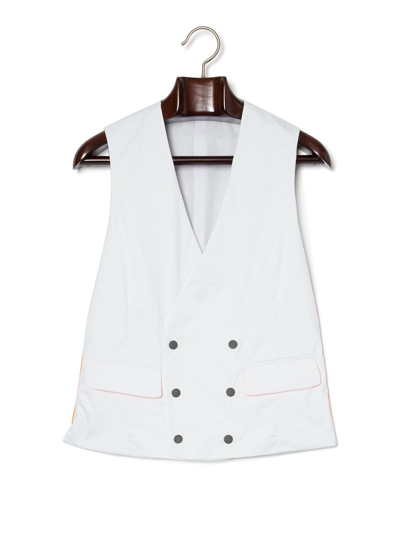 【70%OFF】テックナイロン Vネック ダブルブレステッド マリンジレ ホワイト 46 ファッション > メンズウエア~~ベスト