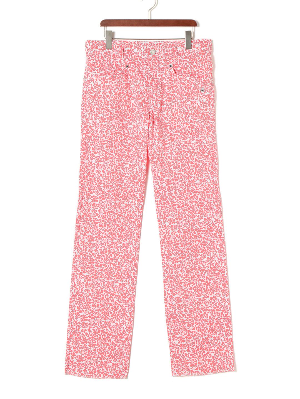 【50%OFF】フラワー柄 プリント ワッペン ゴルフパンツ ピンク 79 ファッション > メンズウエア~~パンツ