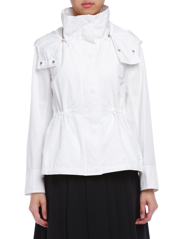 【75%OFF】スタンドカラー フード付 ショートコート オフ 2 ファッション > レディースウエア~~パンツ