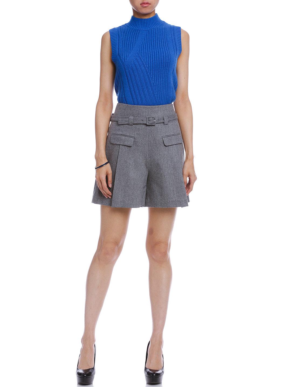 【69%OFF】DVF CHAPMAN ベルト付 キュロット グレー 6 ファッション > レディースウエア~~パンツ~~ショートパンツ